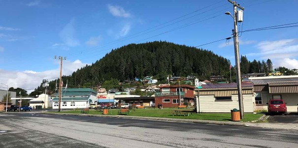 Wrangell Town, one of the oldest island towns in Alaska.