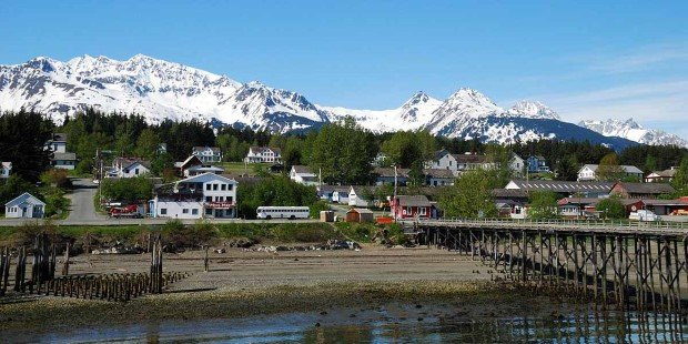 Haines, a town framed by glaciers and mountains.
