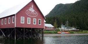 Icy Strait Point is a native settlement of the Huna Tlingit culture.