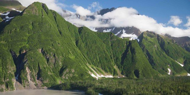 Rarely-visited Prince William Sound, framed by the Chugach mountains.