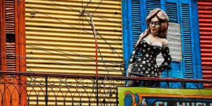 The colourful La Boca area in Buenos Aires