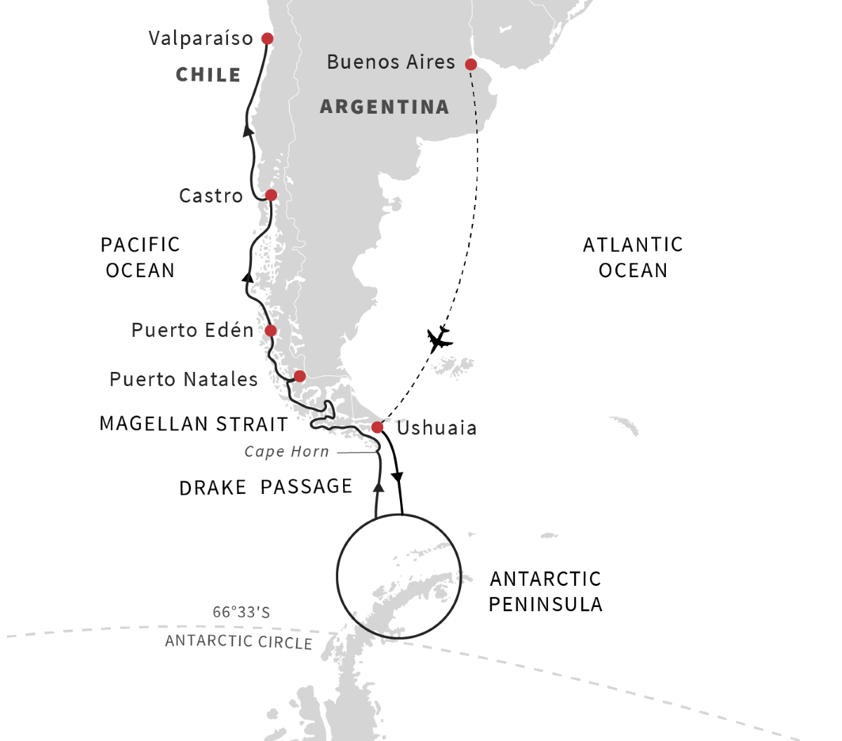 Antarctica, Patagonia, Chilean Fjords – Exploration of the Southern Highlights (Northbound)