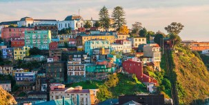 The UNESCO World Heritage city of Valparaiso, Chile.