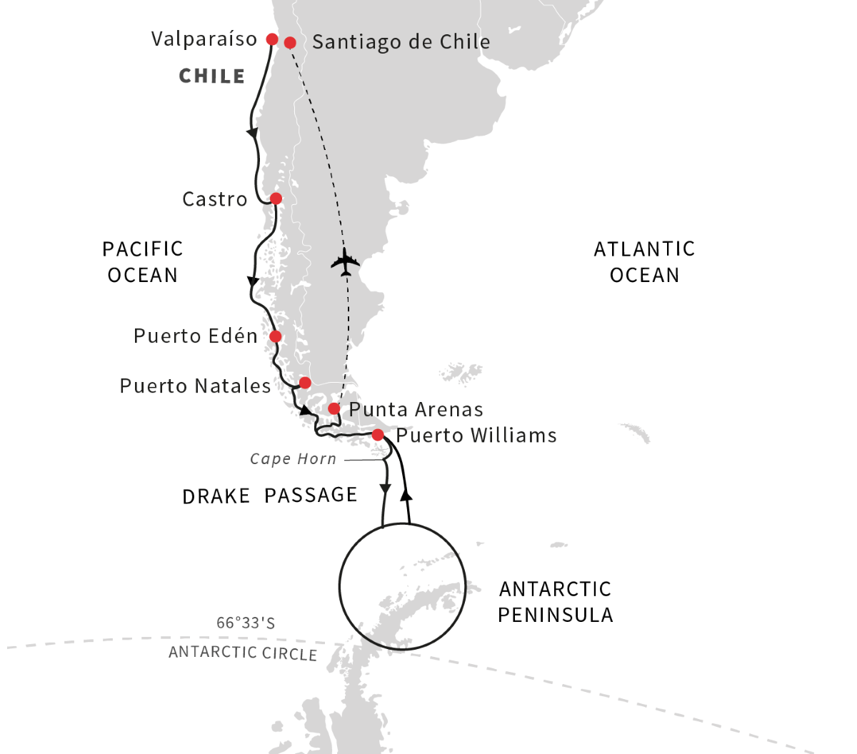 Antarctica, Patagonia, Chilean Fjords - Voyage of Discovery (Southbound)