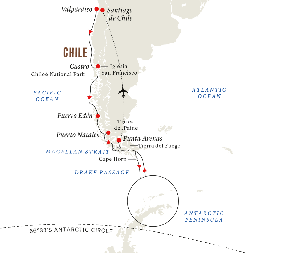 In-depth Antarctica & Patagonia Expedition (Southbound)