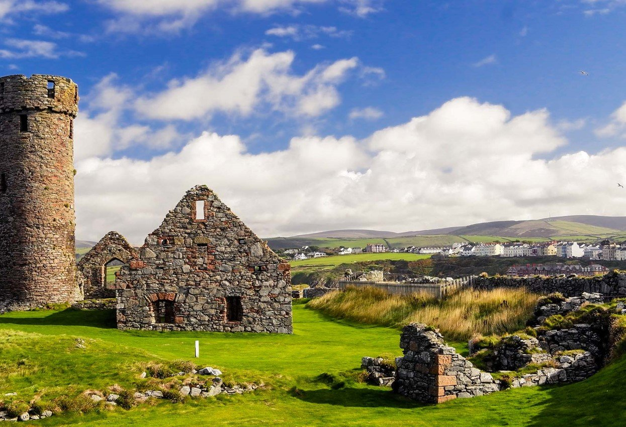 Wander Viking-era castles on the Isle of Man.