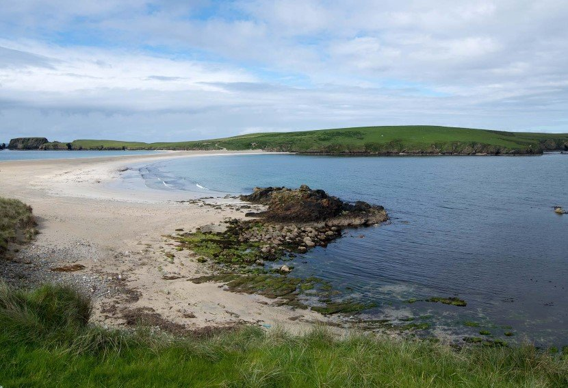 Idyllic beaches in Lerwick.