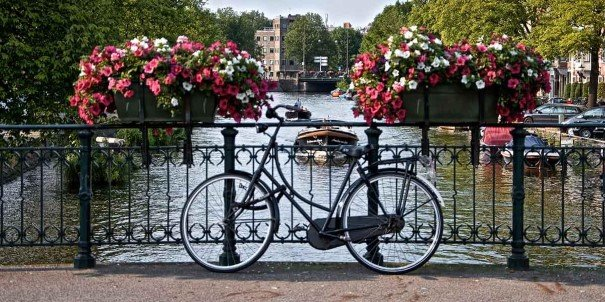 Bicycle by the Amsterdam canals
