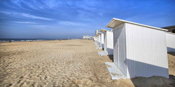Sandy beaches at Oostende