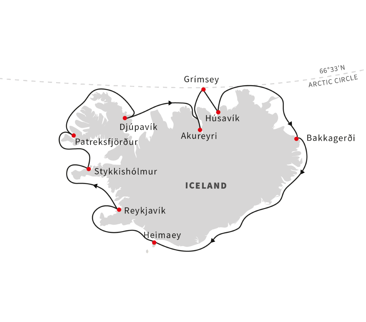Circumnavigating Iceland - The Land of Elves, Sagas and Volcanoes (Itinerary 2)