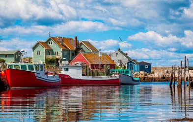 Peggy's Cove, Nova Scotia. Sailing from Halifax, this southbound adventure cruise on board MS Fram calls on charming towns on North America´s east coast in their spectacular fall colours.