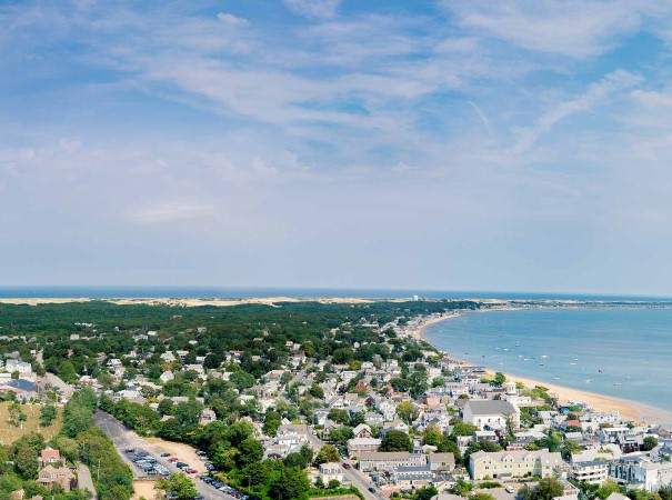 View of Provincetown from Pilgrim Monument. There will be plenty of chances to visit historic beauty on this US and Canada holiday, as we stroll on rugged shorelines, explore bays and lnlets, taste amazing seafood and enjoy cultural attractions along the way.