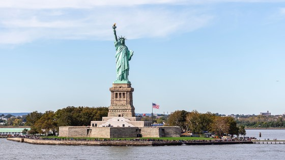 Sail past the iconic Statue of Liberty.