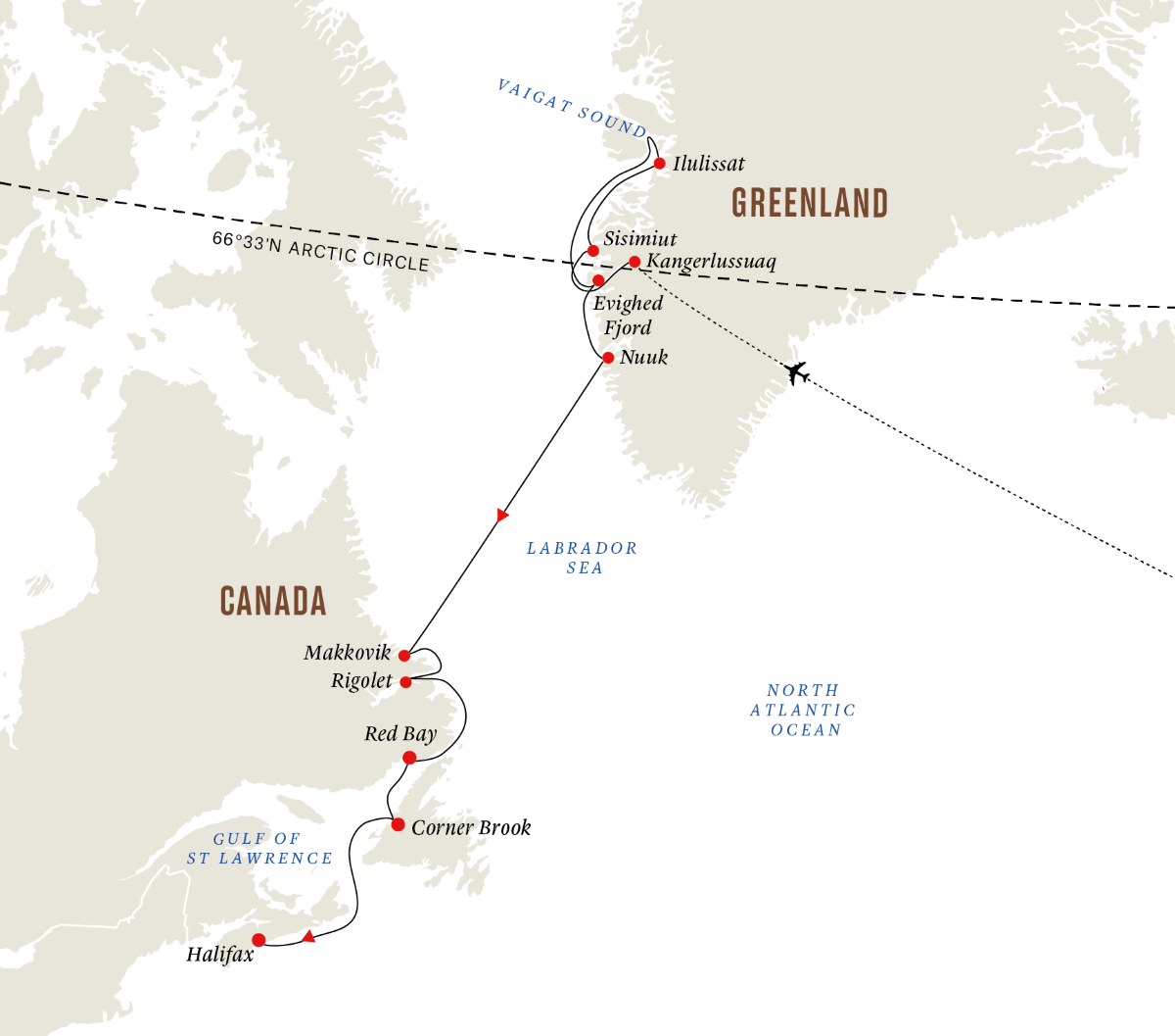 Greenland and Atlantic Canada – Expedition of History, Culture and Nature (Itinerary 2)