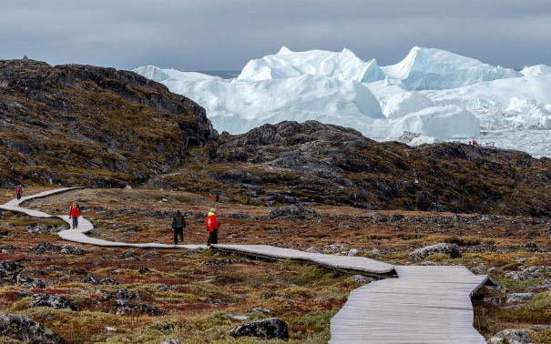 Hiking in nature, Ilulissat, Greenland