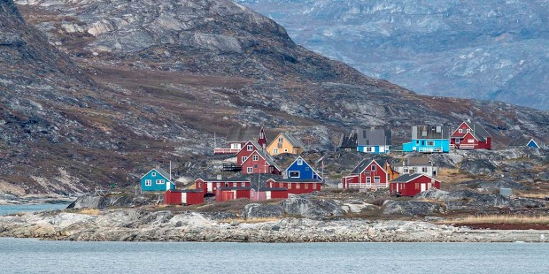 The colourful houses of Nuuk, Greenland.