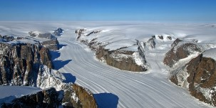 Spectacular view from above of Baffin Island