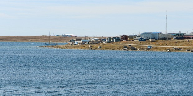 View of Cambridge Bay in the Kitikmeot Region of Nunavut, Canada.