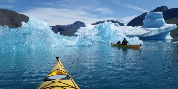 Go kayaking among icebergs with the Expedition Team.