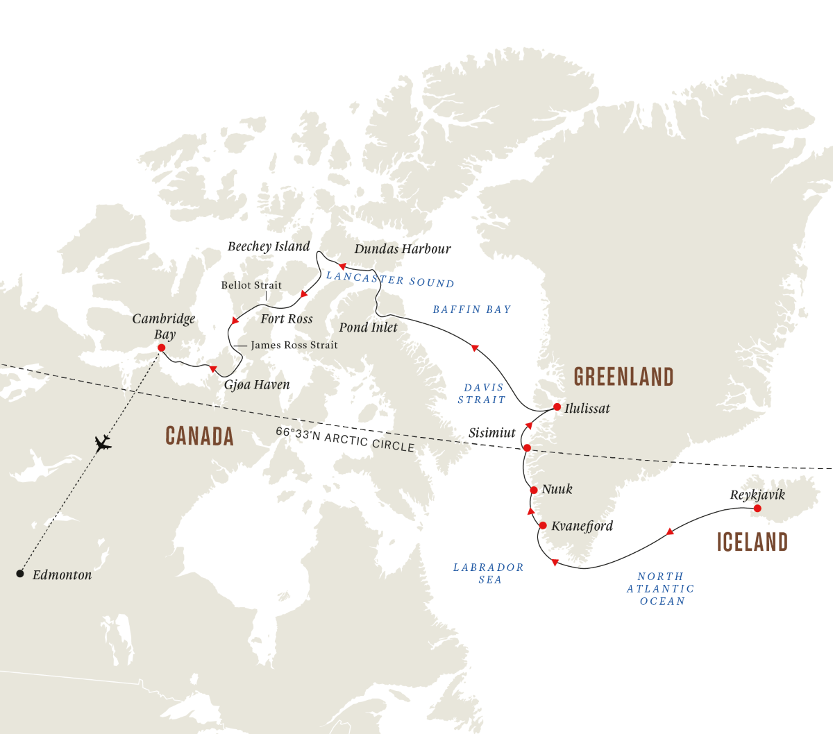 The Northwest Passage - In the Wake of Great Explorers (Itinerary 1)