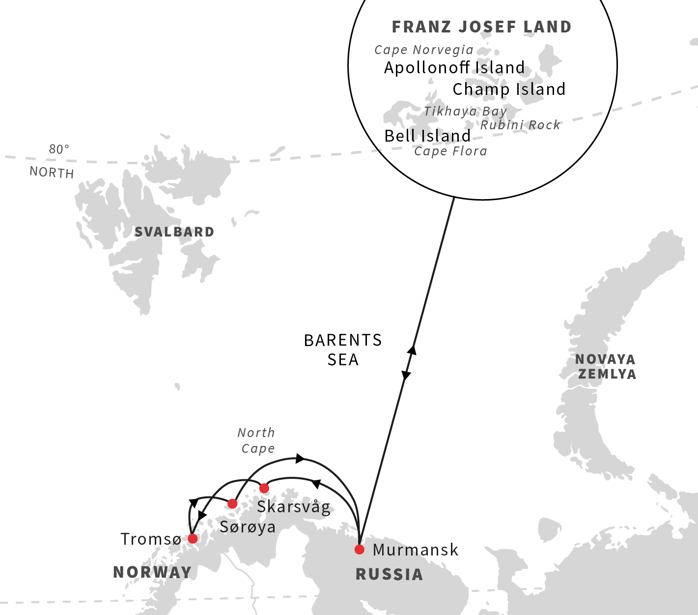 Cruise From Norway To Franz Josef Land