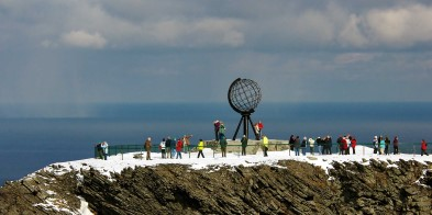 The North Cape has been a prized destination for travellers for centuries. Join an excursion to stand atop the steep cliff 307 metres above the Arctic Ocean marking the end of the continent.