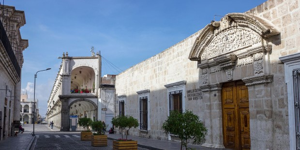 Buildings in the historic centre of Arequipa, Peru.