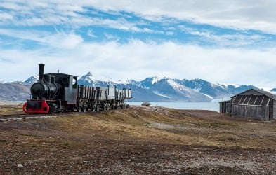 Coal train in Ny Ålesund, one of the northernmost communities in the world.