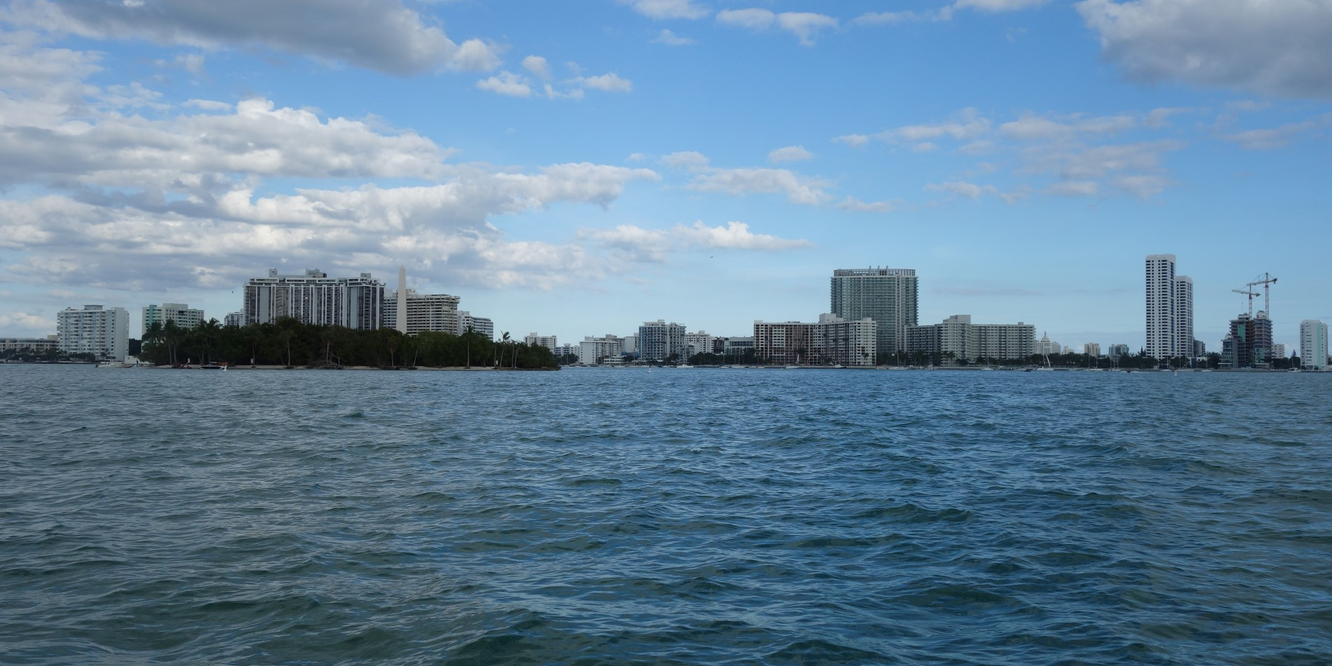 View of Miami from the sea.