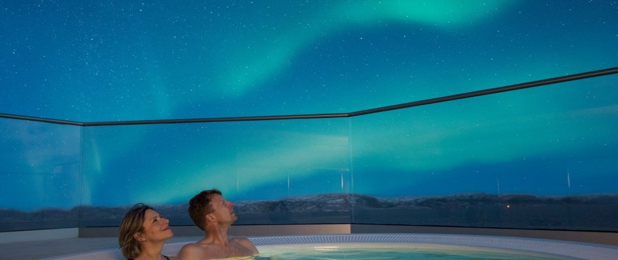 Snuggle up in the hot tubs on deck for orchestra seats to the nature we sail past.