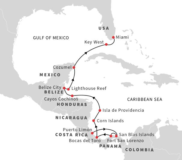 Expedition In The Caribbean Sea Puerto Limon Miami April 2019 Hurtigruten