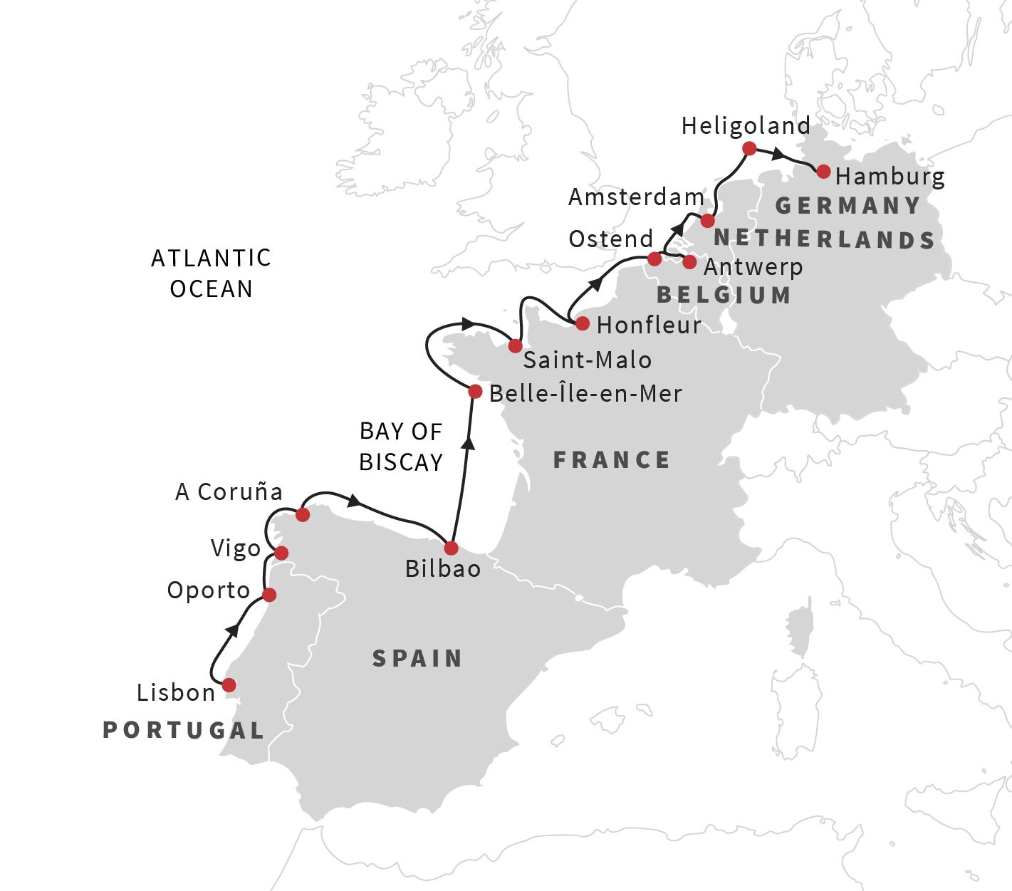 Cruise the European Coast: From Lisbon to Hamburg - May 2019 ...