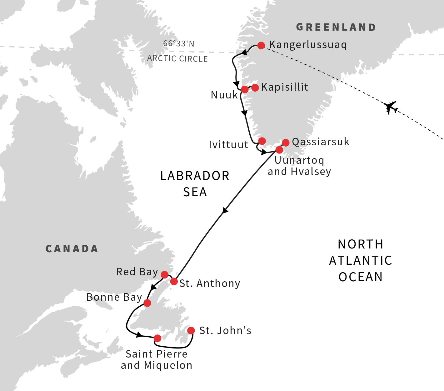 Cruise from Greenland to the coast of Newfoundland and Labrador ...