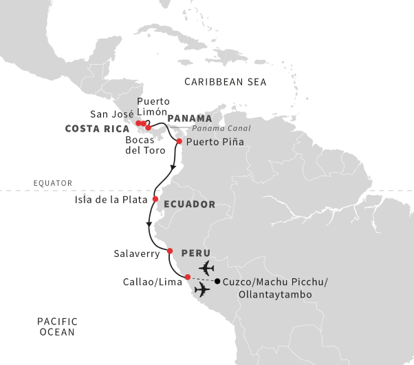 Cruise to Machu Picchu: From Costa Rica to Peru (October 2019 ... on subdivisions of the world map, han dynasty world map, carthage on world map, abbasid caliphate world map, aztec world map, vespucci world map, maya world map, hp world map, pre columbian world map, china world map, tokugawa world map, lords of magic world map, ponce de leon world map, minoan world map, celtic world map, swahili coast world map, matlab world map, mongol world map, arenal world map, dog world map,