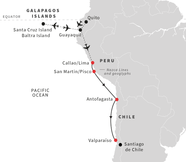 Tour To Galapagos Islands And Cruise From Peru To Chile