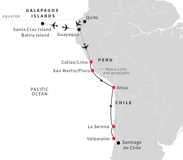 Tour The Galapagos Islands And Cruise From Lima To
