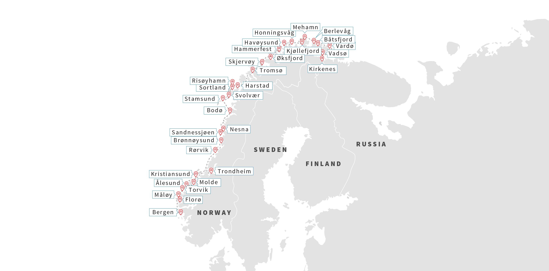 Norway Ports Hammerfest Hurtigruten Hurtigruten