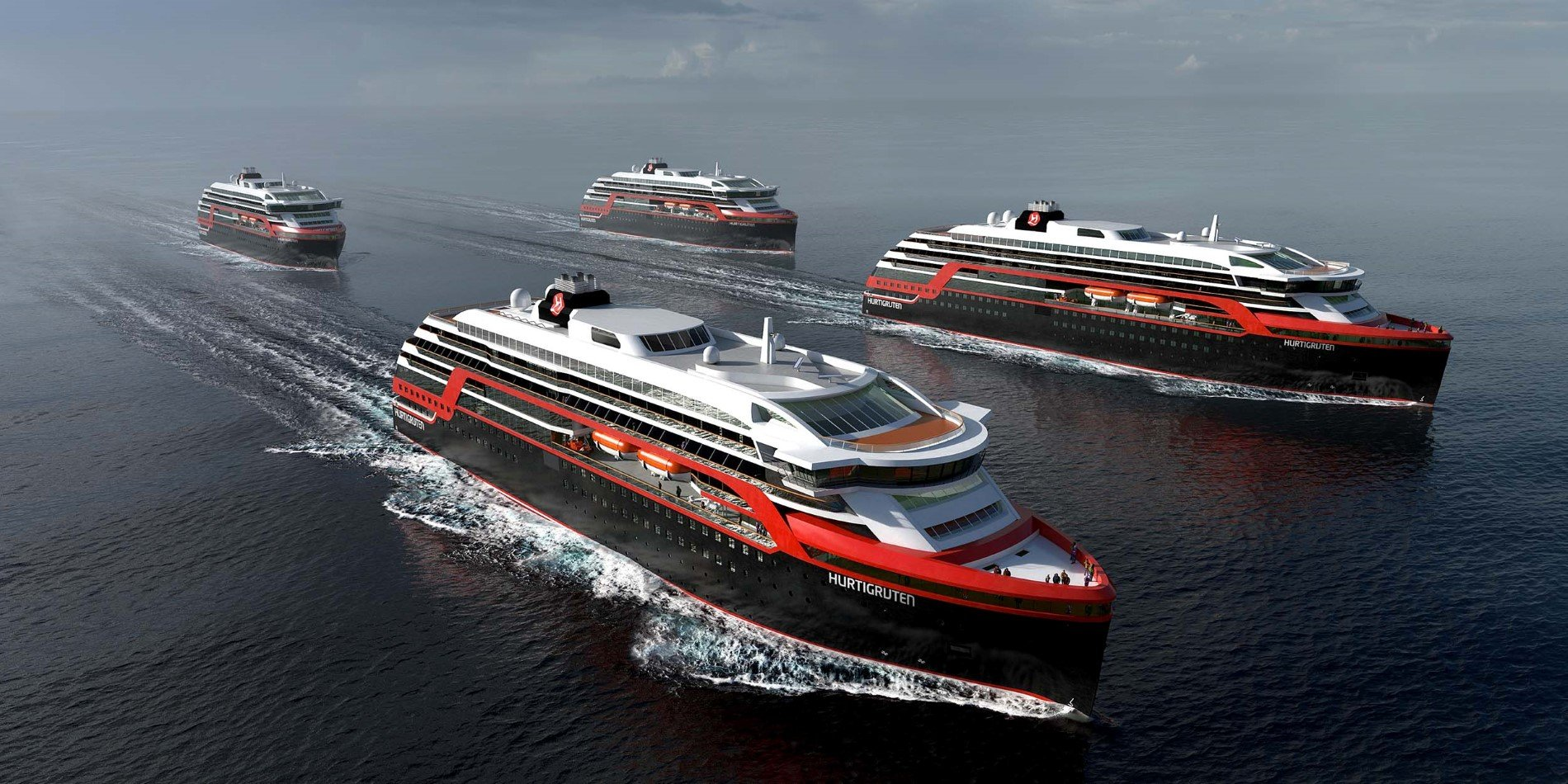 4 new explorer ships have been announced by Hurtigruten