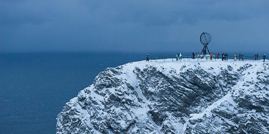 The North Cape in winter, Norway