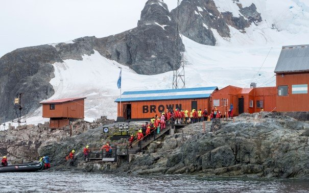 Research station in Paradise Bay Antarctica