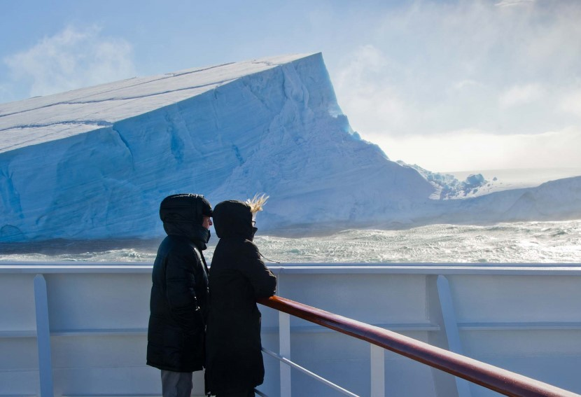 Enjoying the views in the Antarctic Sound