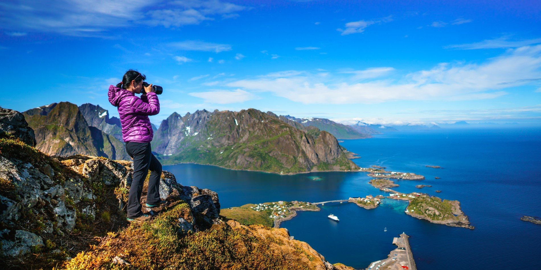 Lofoten Archipelago in summer