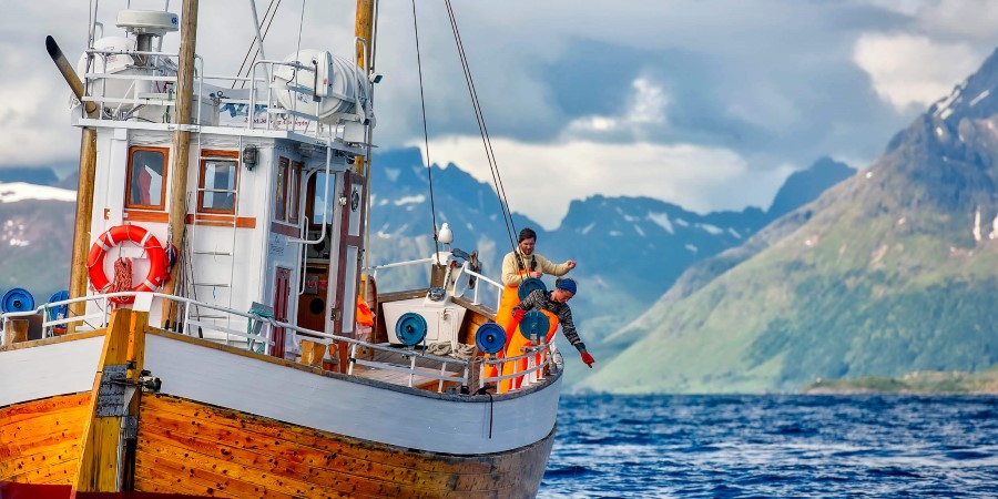 Fishing boat in Lofoten
