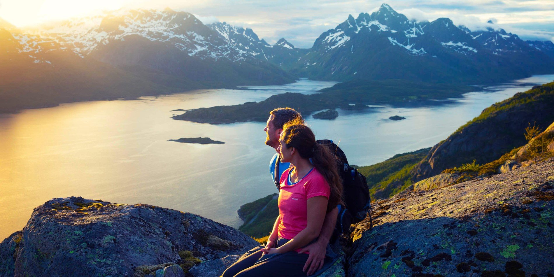Lofoten's jagged mountain tops are perfect for great hikes and stunning views
