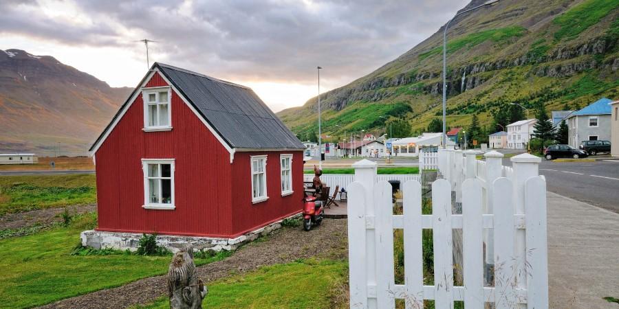The beautiful small town of Seyðisfjörður