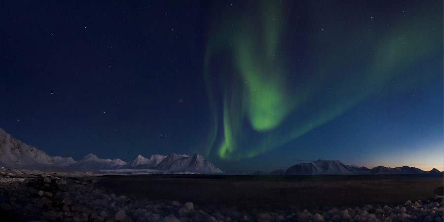 Awe at the Northern Lights in Spitsbergen