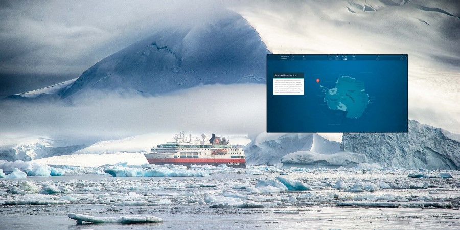 History of Antarctica, interactive map