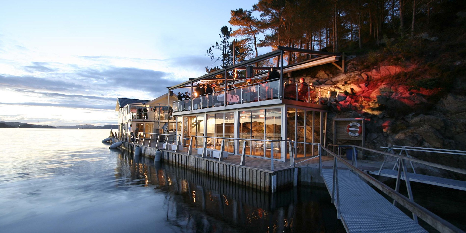 Enjoy a seafood dinner at Cornelius Restaurant outside Bergen