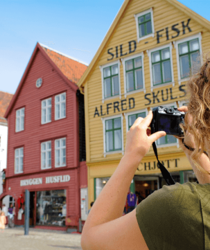 Close to Bryggen you'll find Fisketorget, one of the best fish and seafood markets in Norway.