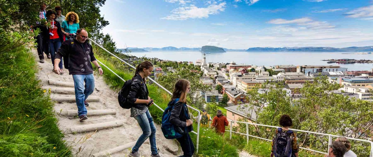 Hiking excursion at Hammerfest
